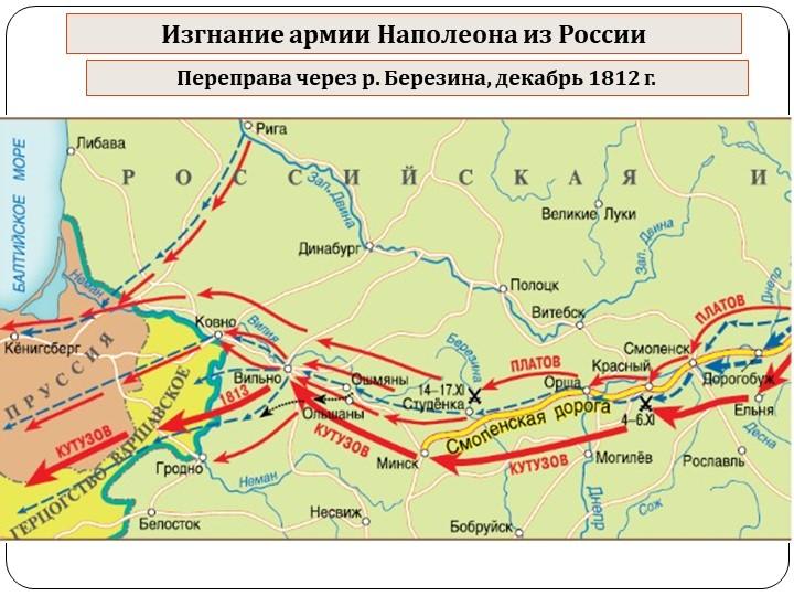 Изгнание армии Наполеона из РоссииПереправа через р. Березина, декабрь 1812 г.