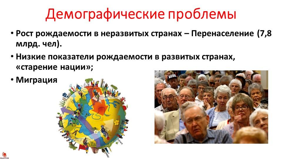 Демографические проблемыРост рождаемости в неразвитых странах – Перенаселение...