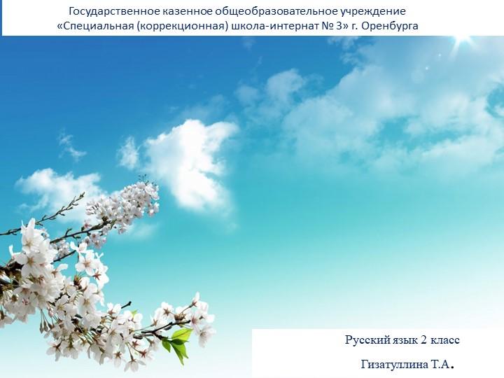 Русский язык 2 класс...