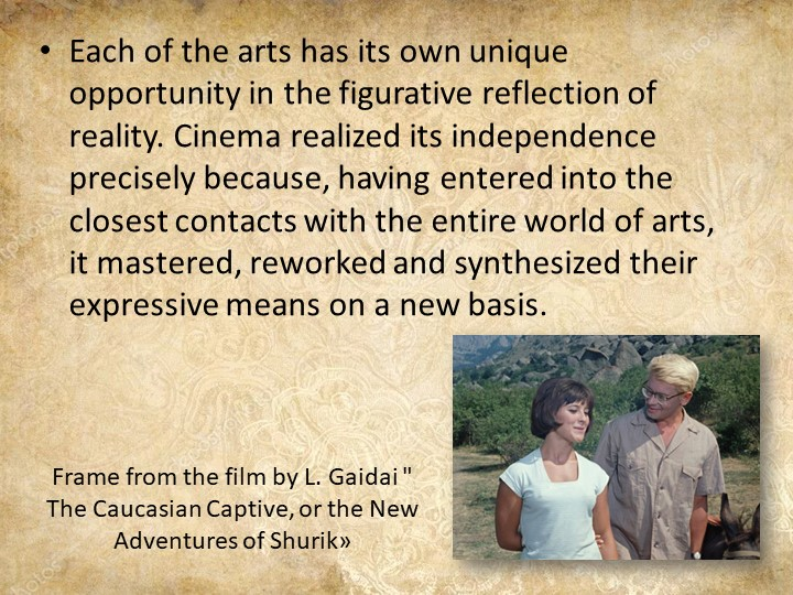 """Frame from the film by L. Gaidai """" The Caucasian Captive, or the New Adventur..."""