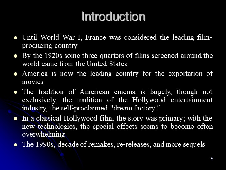 4IntroductionUntil World War I, France was considered the leading film-produc...