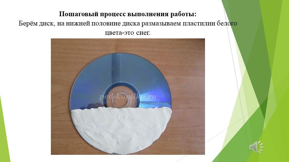 Пошаговый процесс выполнения работы:Берём диск, на нижней половине диска раз...