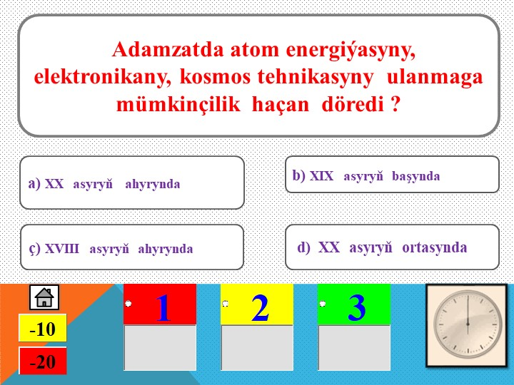Adamzatda atom energiýasyny, elektronikany, kosmos tehnikasyny  ulanmaga mü...
