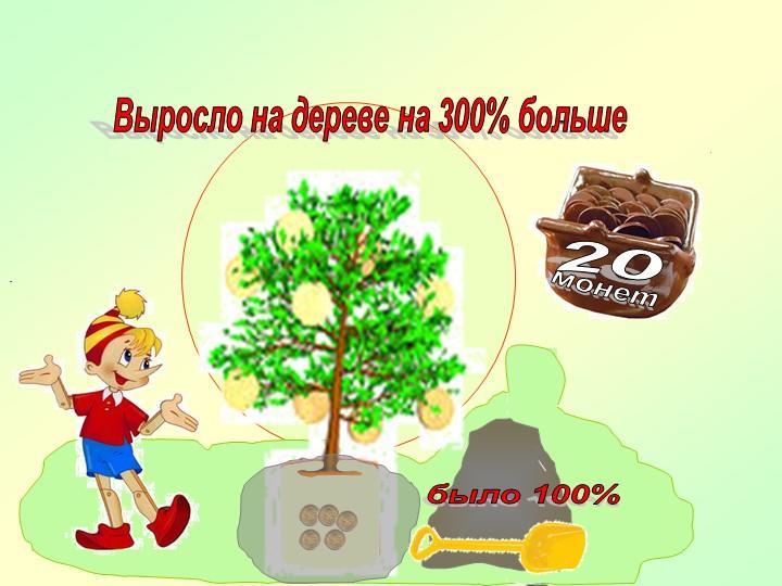 Выросло на дереве на 300% большебыло 100%20монет