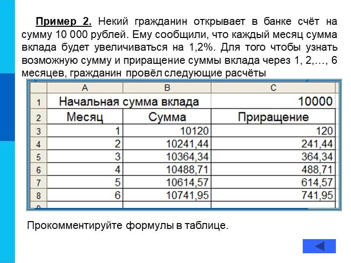 Пример 2. Некий гражданин открывает в банке счёт на сумму 10 000 рублей. Ему...