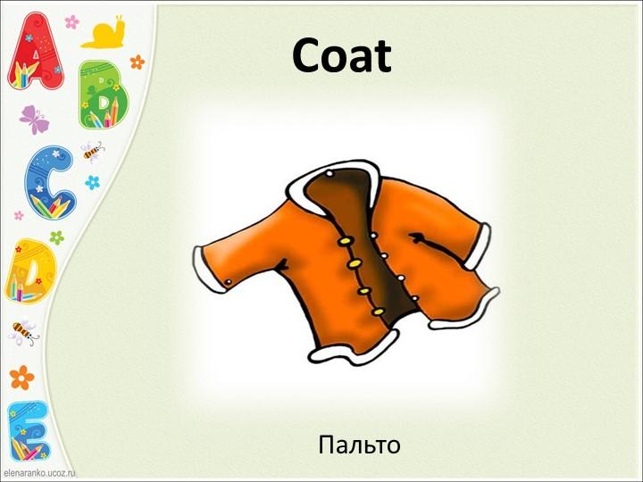 CoatПальто