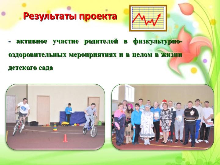 Результаты проекта - активное участие родителей в физкультурно-оздоровительн...