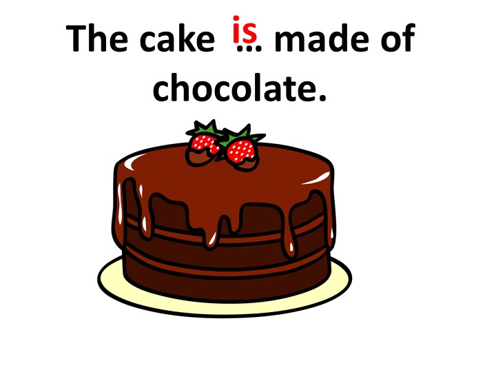 The cake  … made of chocolate.