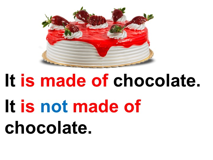 It is made of chocolate.