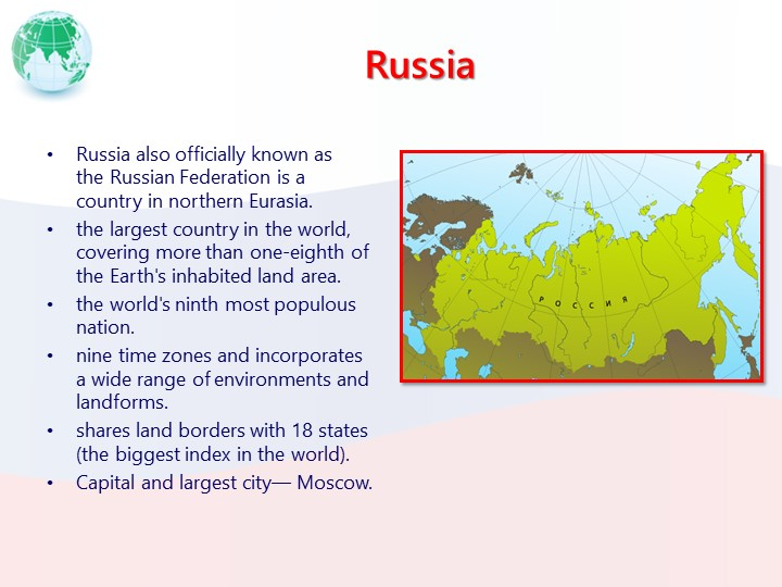 RussiaRussia also officially known as theRussian Federation is a country in...