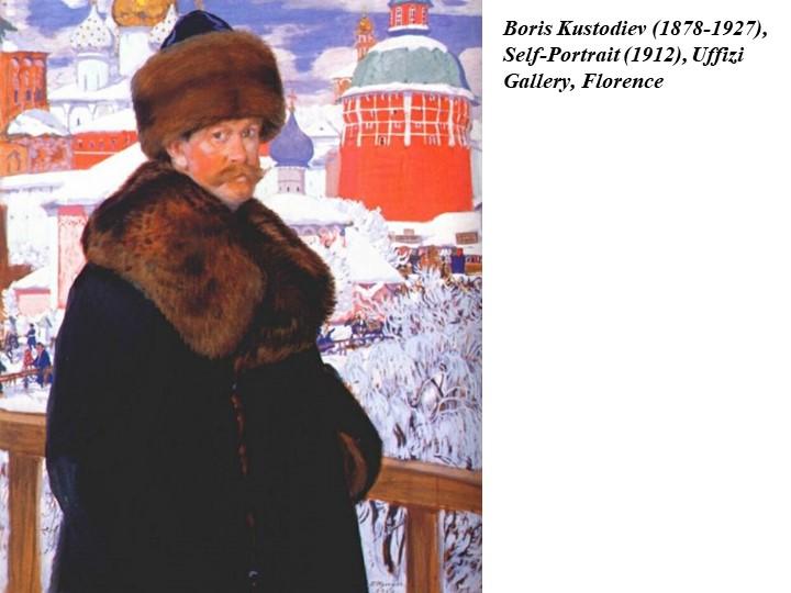 Boris Kustodiev (1878-1927), Self-Portrait (1912), Uffizi Gallery, Florence