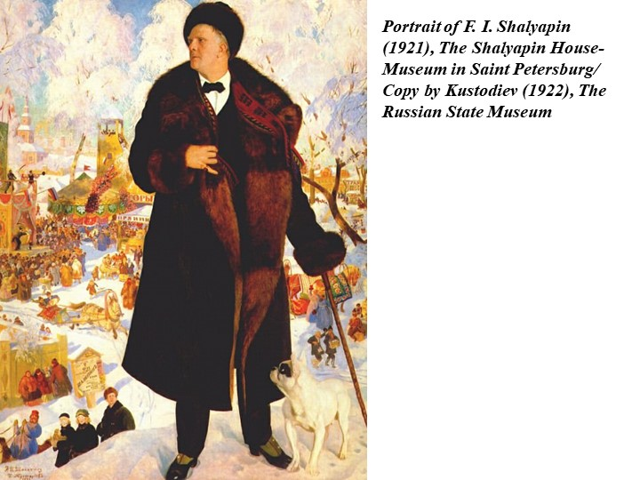 Portrait of F. I. Shalyapin (1921), The Shalyapin House-Museum in Saint Peter...