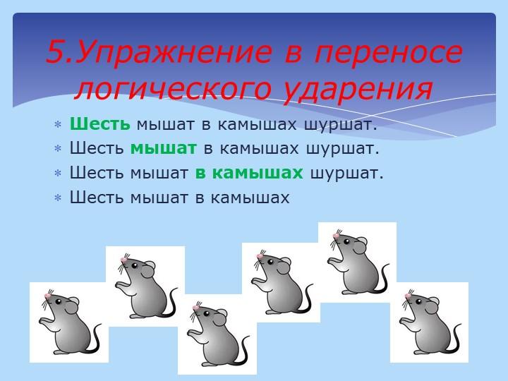 Шесть мышат в камышах шуршат.Шесть мышат в камышах шуршат.Шесть мышат в кам...