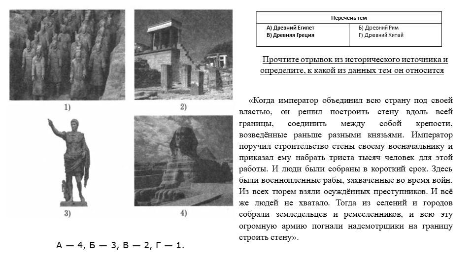 А— 4, Б— 3, В— 2, Г— 1.Прочтите отрывок из исторического источника и опр...