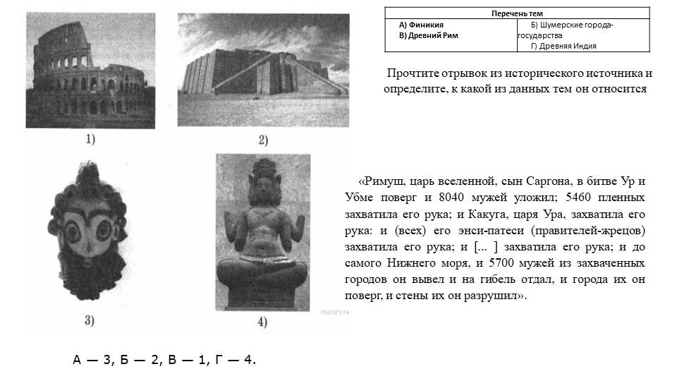 А— 3, Б— 2, В— 1, Г— 4.Прочтите отрывок из исторического источника и опр...