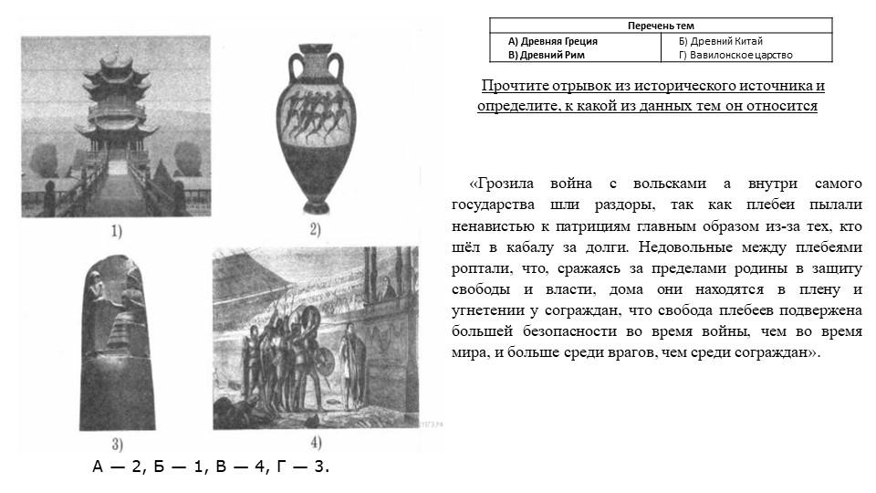 А— 2, Б— 1, В— 4, Г— 3.Прочтите отрывок из исторического источника и опр...