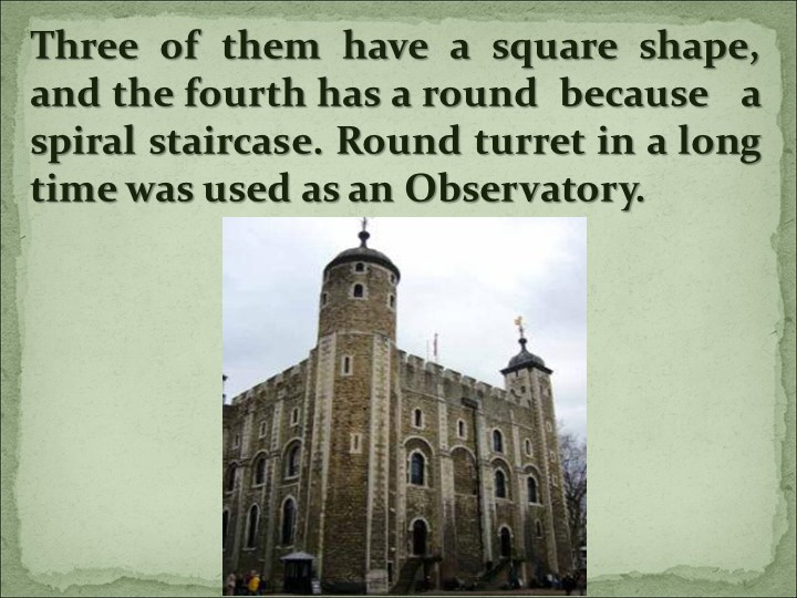 Three of them have a square shape, and the fourth has a round  because   a sp...