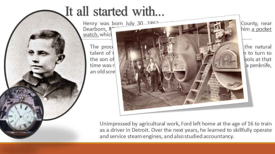 It all started with...Henry was born July 30, 1863, on his family's farm in W...