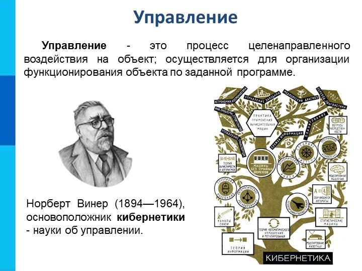 Управление Управление - это процесс целенаправленного воздействия на объект;...