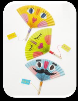 Веер из бумаги - Оригами