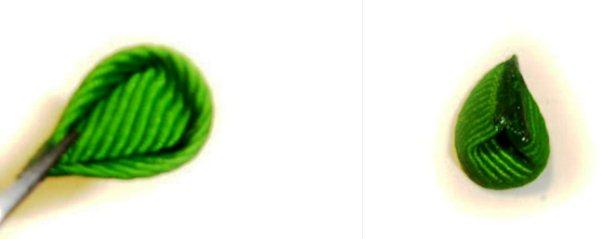 круглые лепестки канзаши