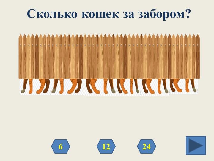 Сколько кошек за забором?12246