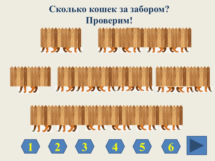 Сколько кошек за забором?Проверим!213456