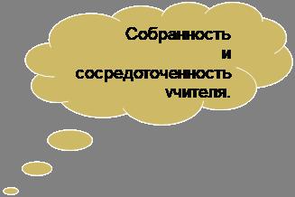Пузырек для мыслей: облако: Собранность и сосредоточенность учителя,