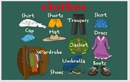 Картинки по запросу одежда с английскими названиями небольшие картинки для детей