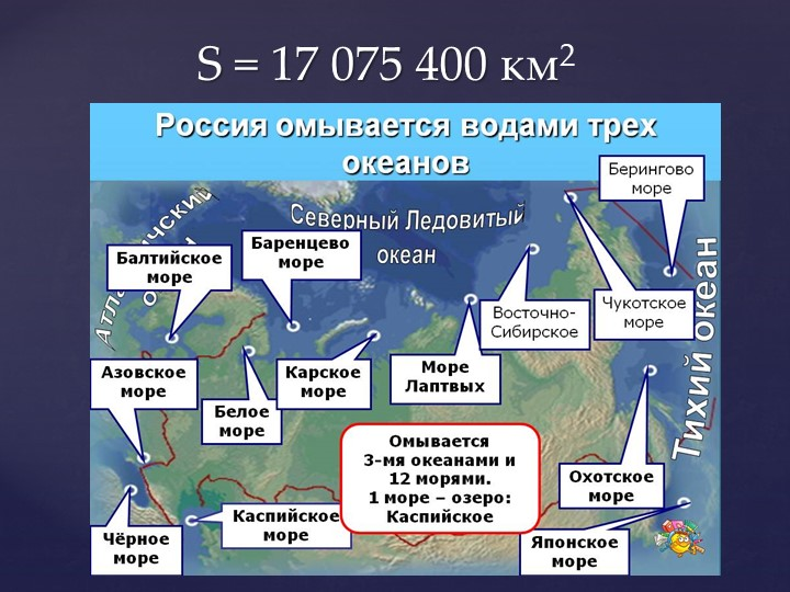 S = 17 075 400 км2